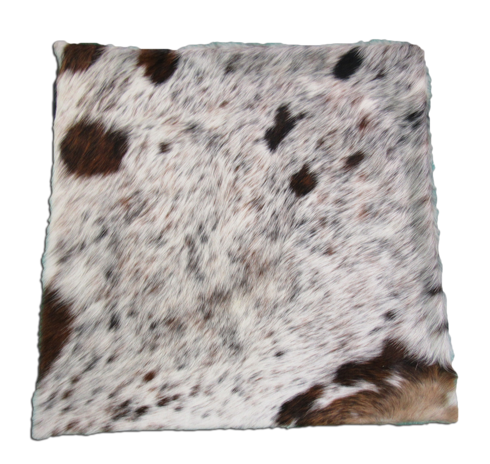 A-1071 Salt and Pepper Cowhide Pillow Cover - Size: 18 in x 18 in