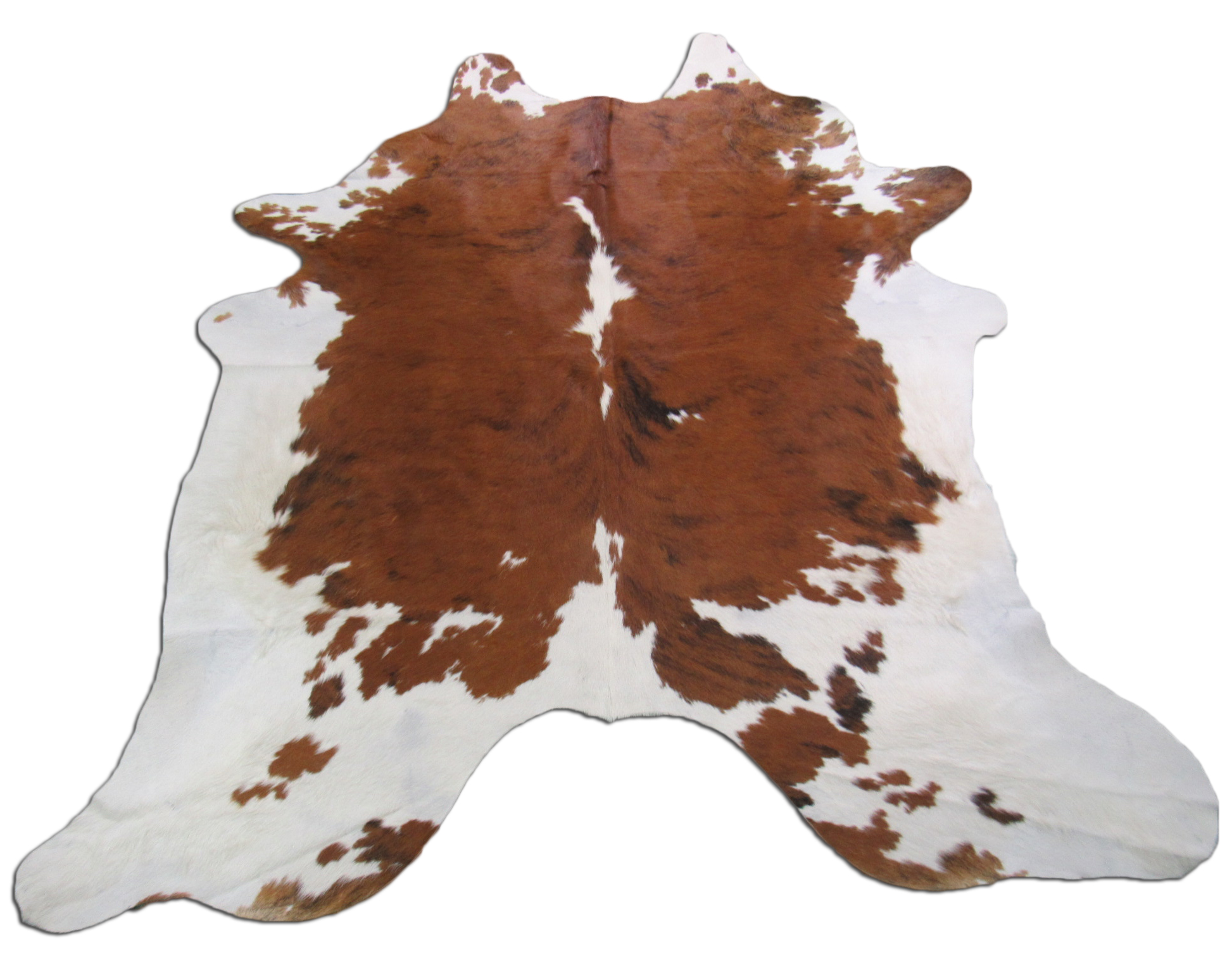 A-1137 White Belly Brindle Cowhide Rug Size: 7' X 7'