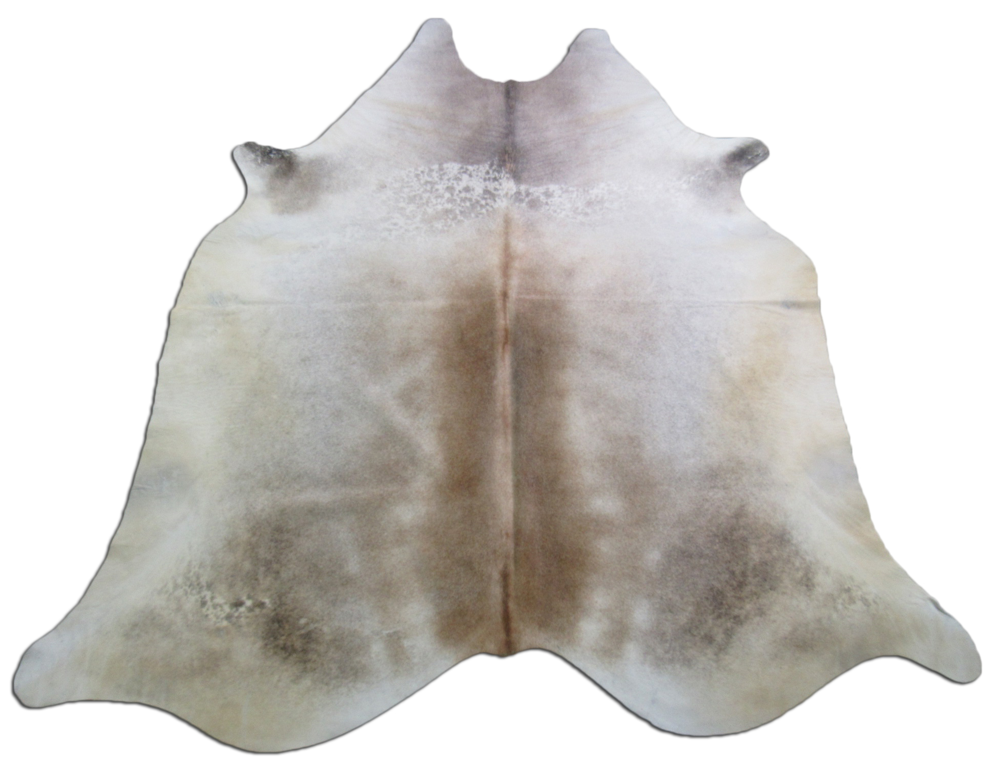 A-1218 Grey and Beige Cowhide Rug Size: 8' X 7'