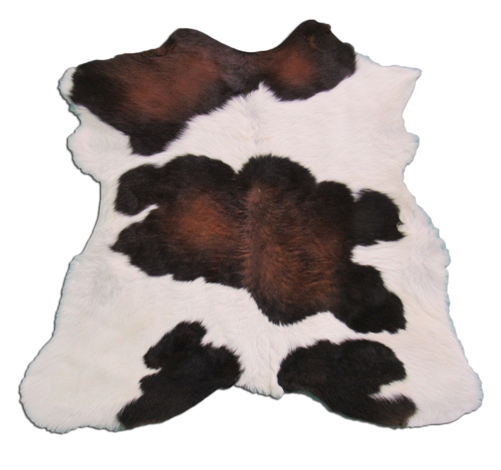 A-1222 Tricolor Calf Skin Rug - Size: 37 inches X 34 inches