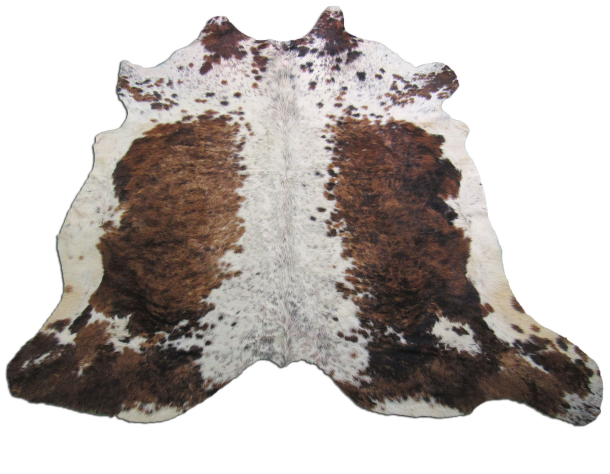 A-1243 Tricolor Speckled Cowhide Rug Size: 7 1/2' X 7 1/2'