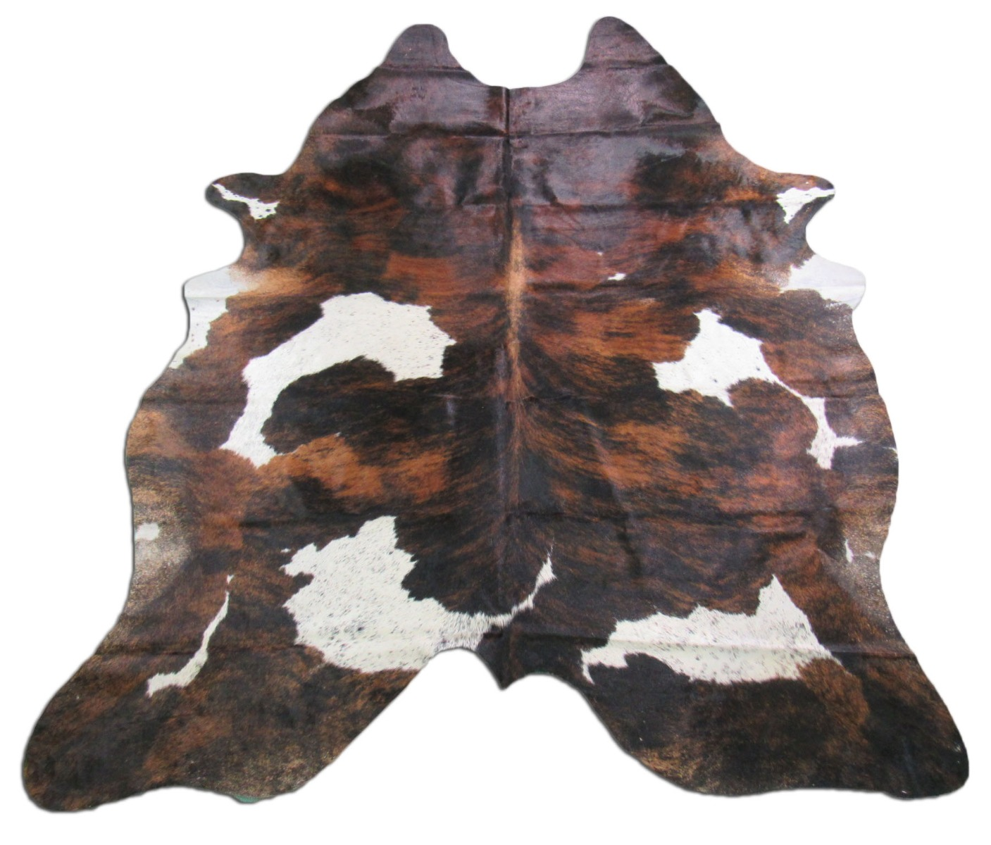 A-1248 Tricolor Speckled Cowhide Rug Size: 7 1/2' X 7 1/2'