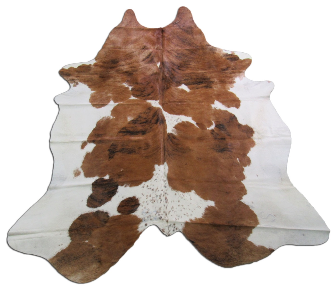 A-1249 Tricolor Speckled Cowhide Rug Size: 7 1/2' X 7 1/2'