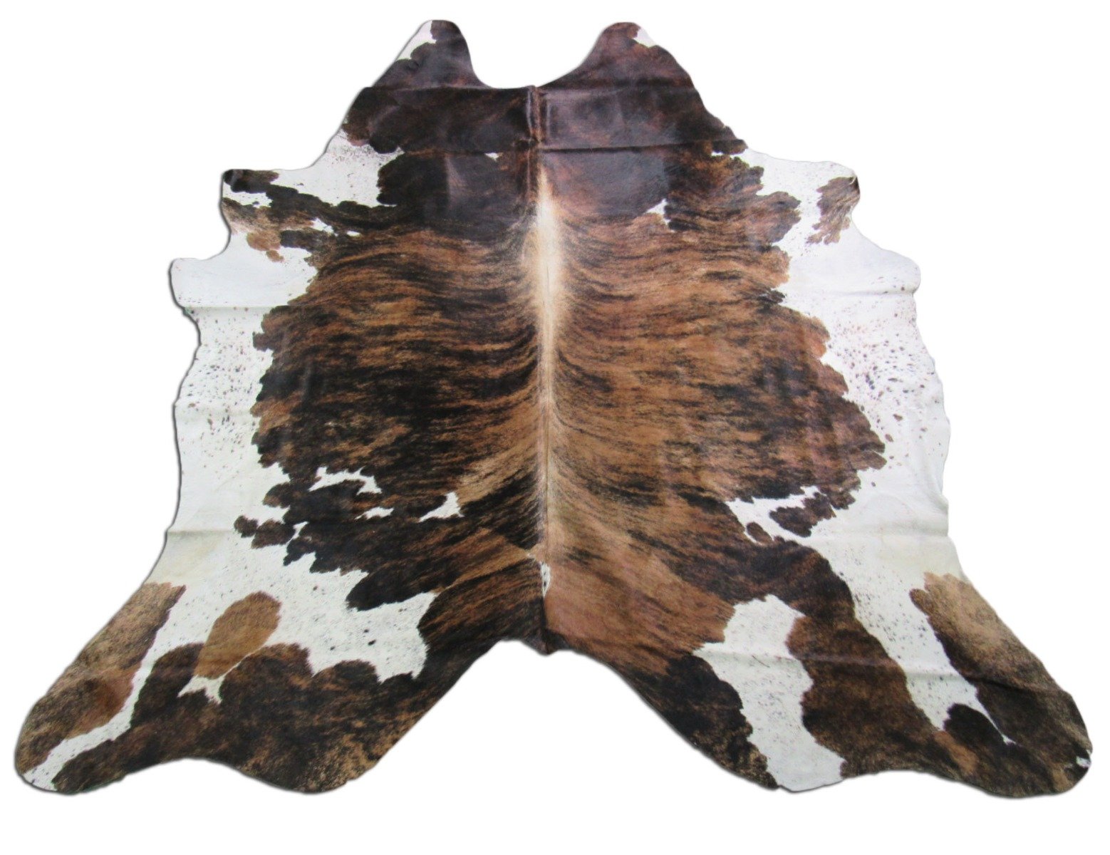 A-1250 Tricolor Speckled Cowhide Rug Size: 7 1/2' X 7 1/2'