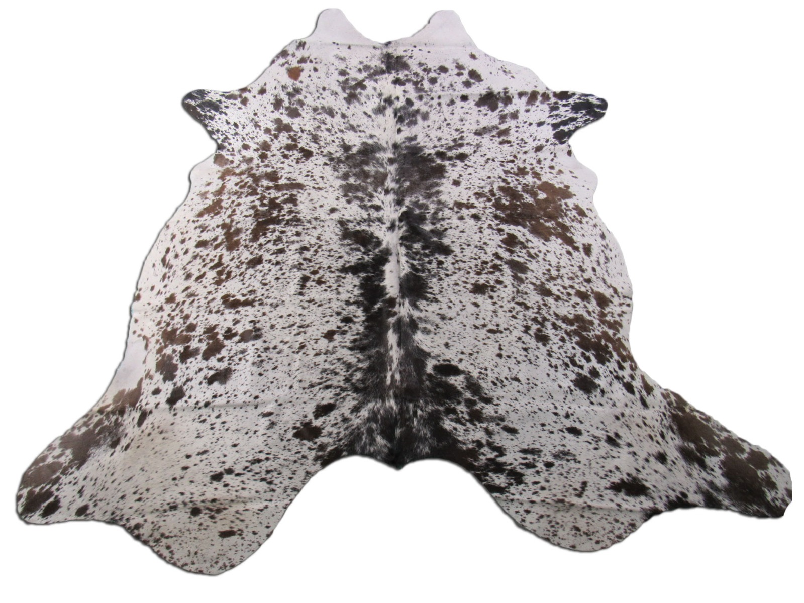 A-1265 Brown and White Salt & Pepper Cowhide Rug Size: 7' X 6 1/4'