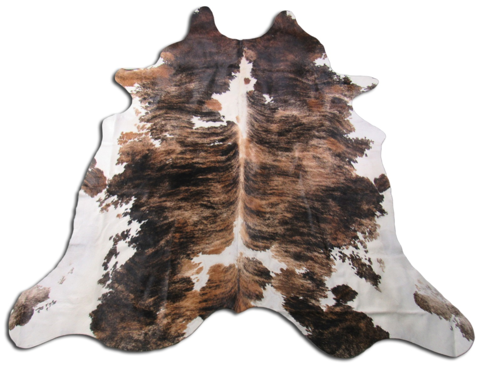 A-1267 Tricolor Speckled Cowhide Rug Size: 7 1/2' X 7'