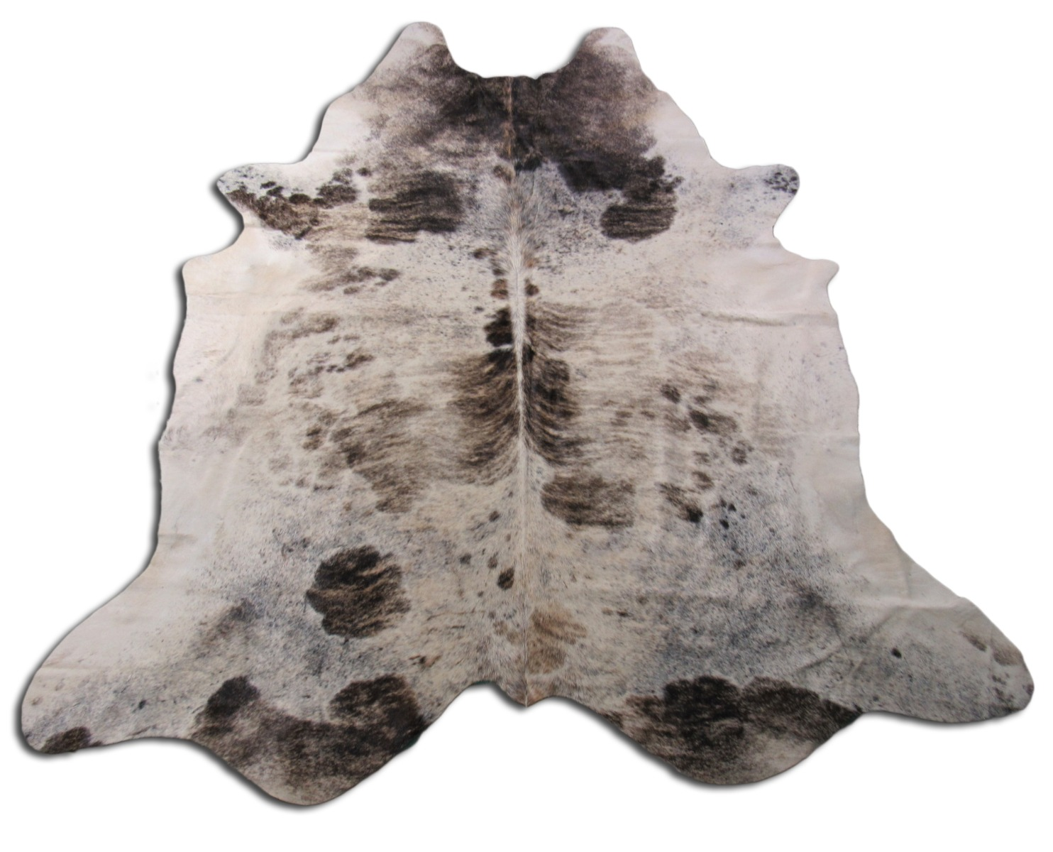 A-1268 Tricolor Speckled Cowhide Rug Size: 7' X 6 1/2'