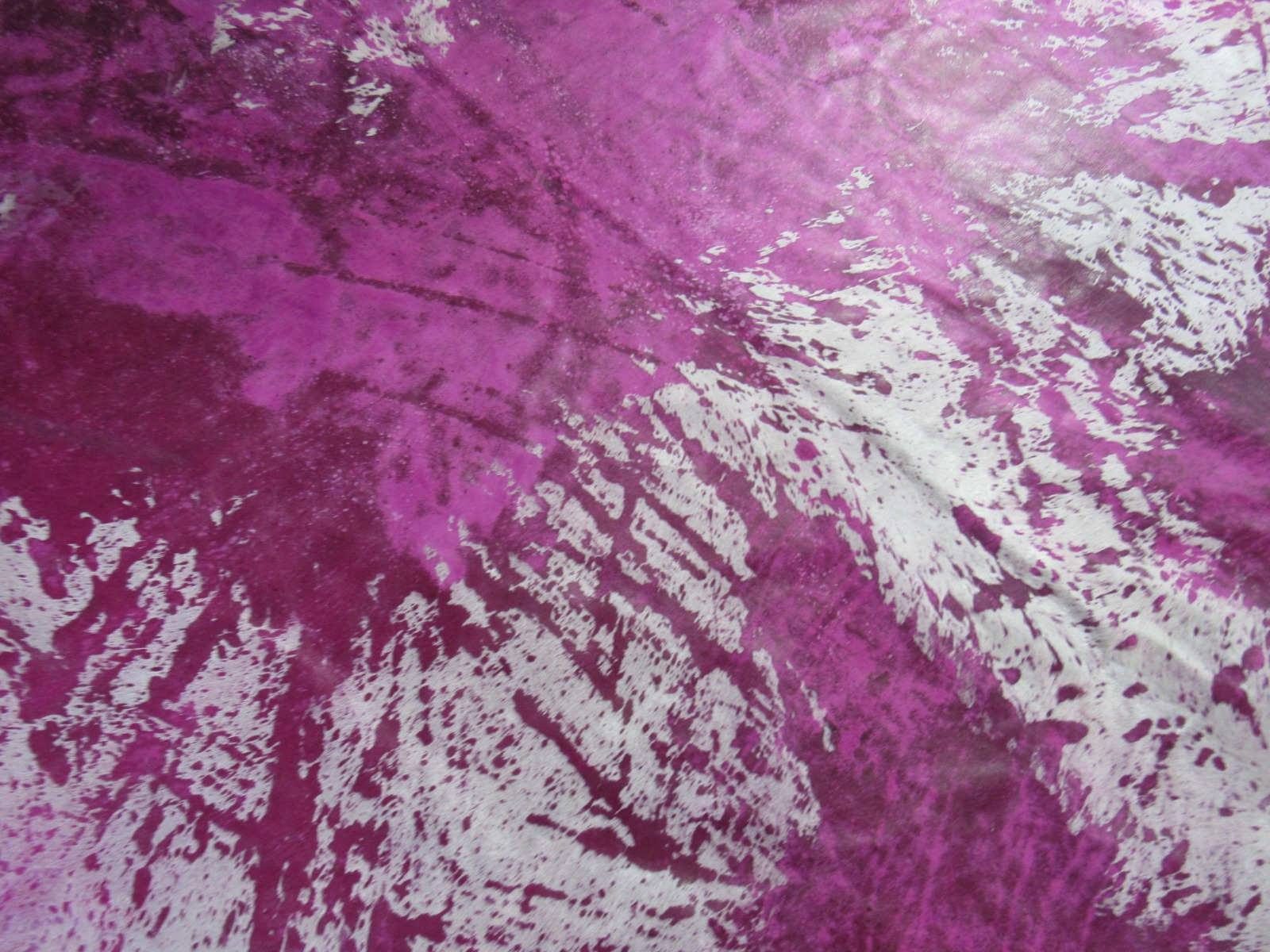 A-1275 Pink Acid Washed Cowhide Rug Size: 8' X 7 1/4'