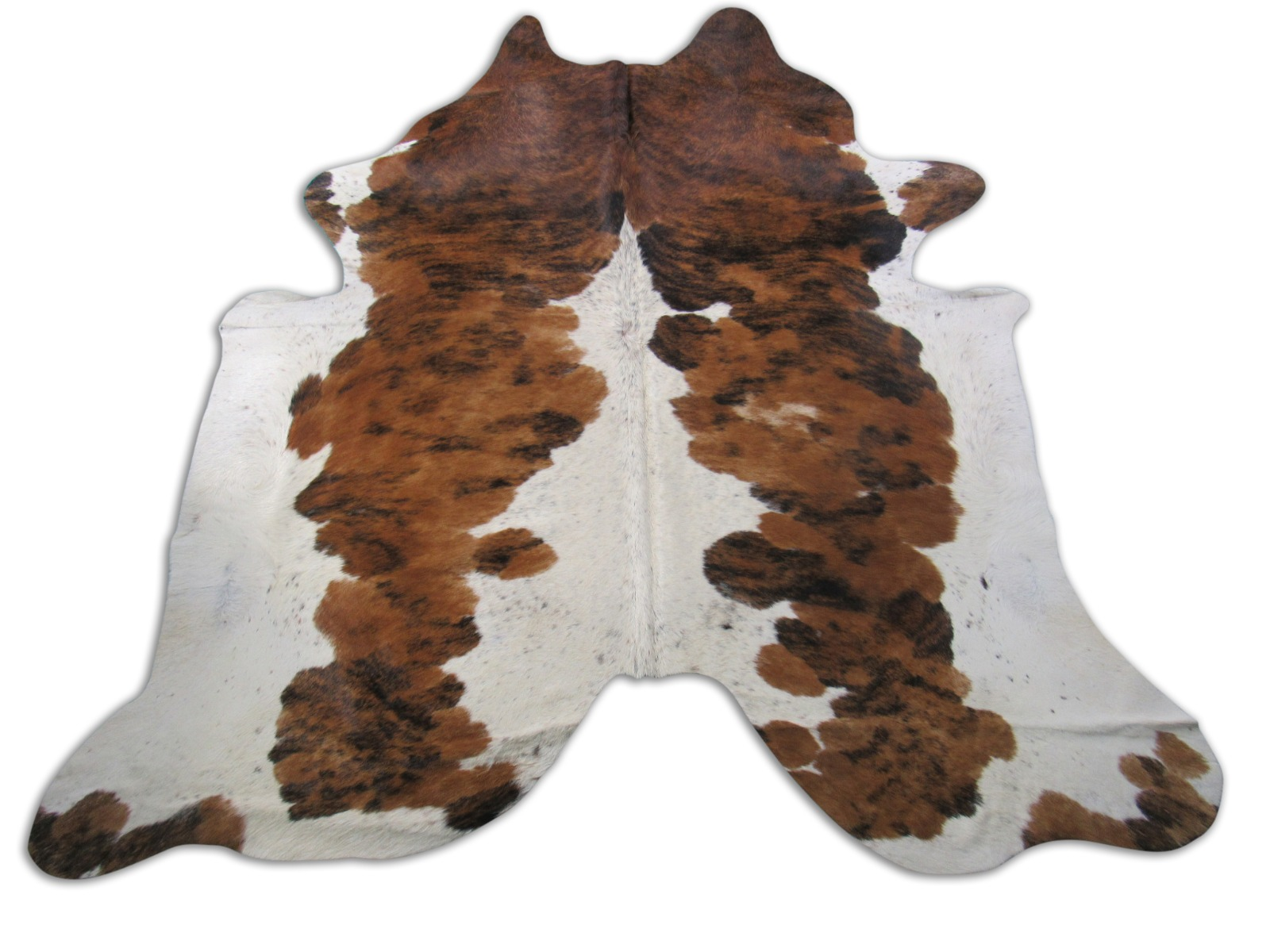 A-1299 Tricolor Speckled Cowhide Rug Size: 71/4' X 7'