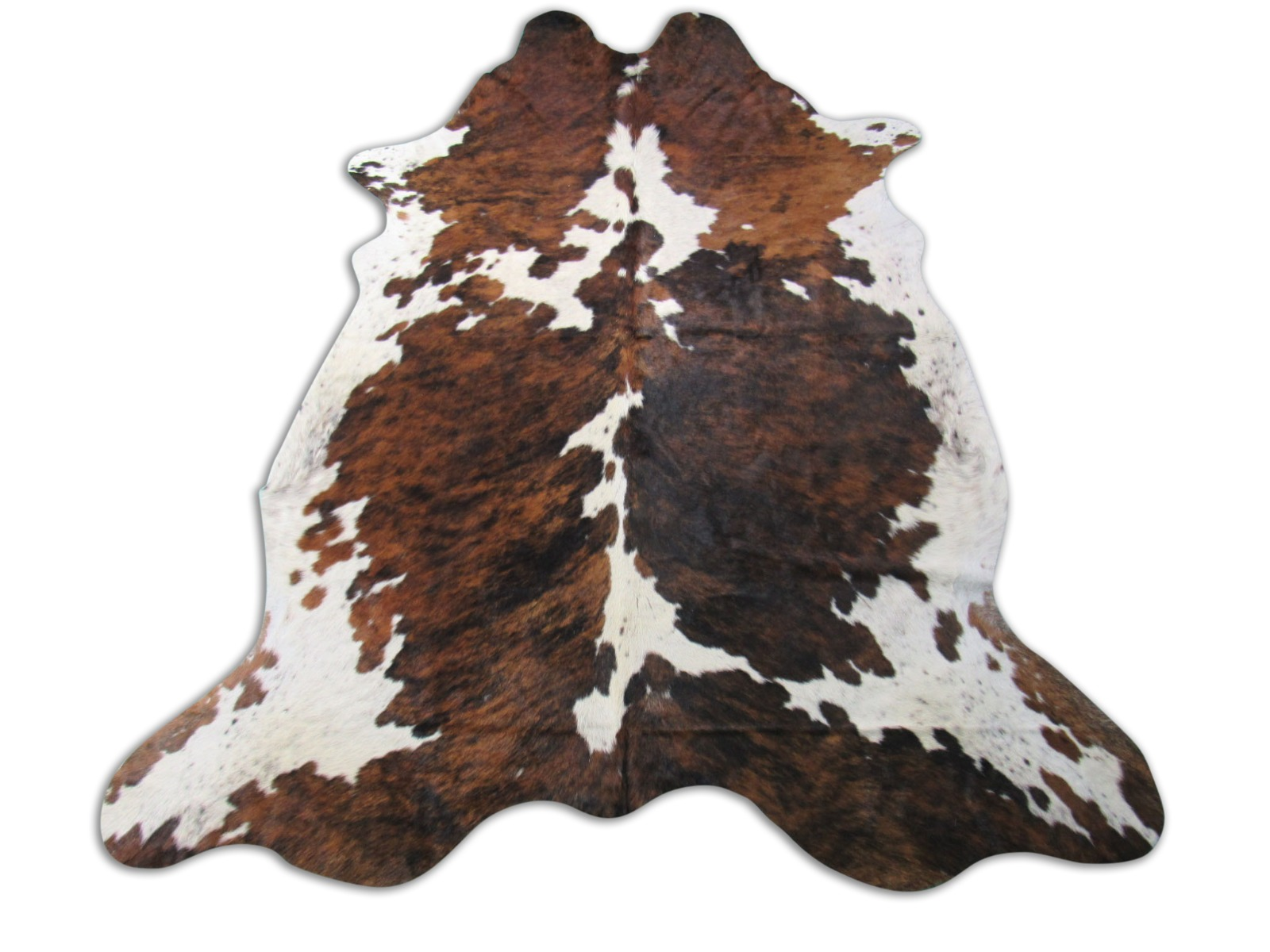 A-1302 Tricolor Speckled Cowhide Rug Size: 8 1/4' X 7'