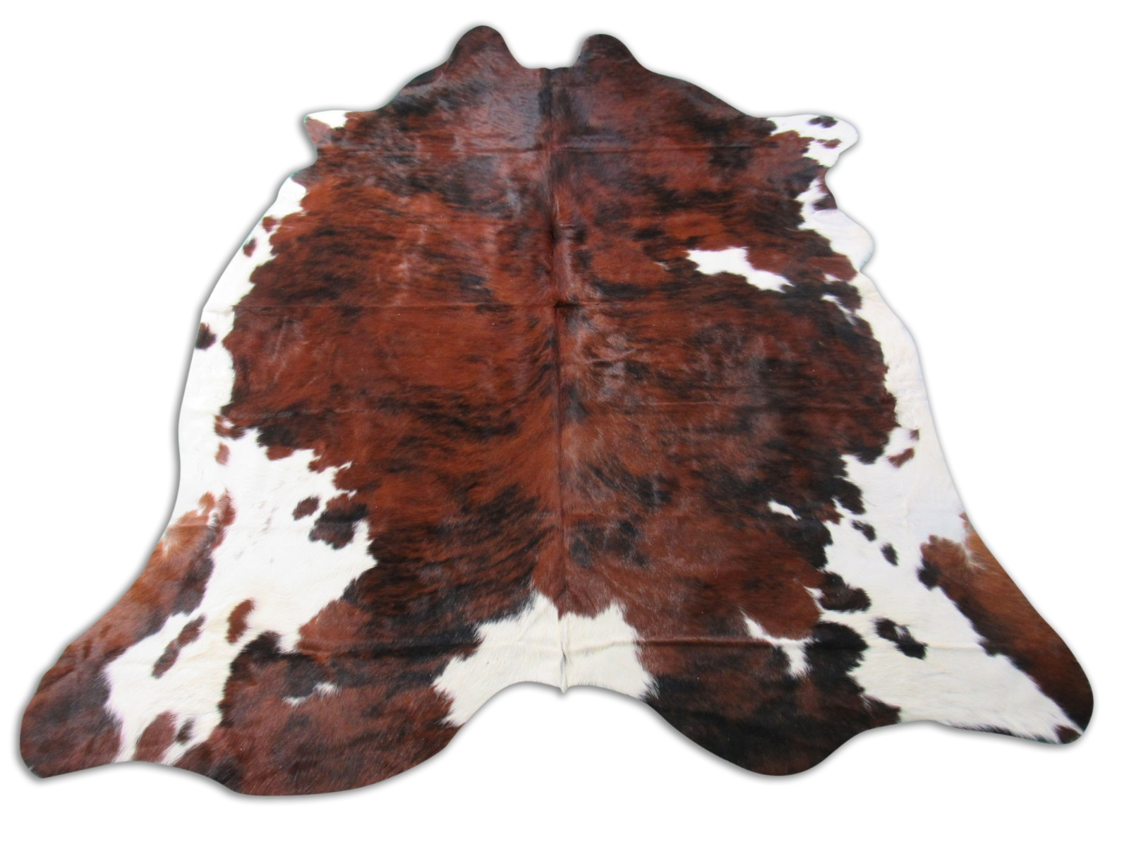 A-1304 Tricolor Speckled Cowhide Rug Size: 7 1/4' X 7'