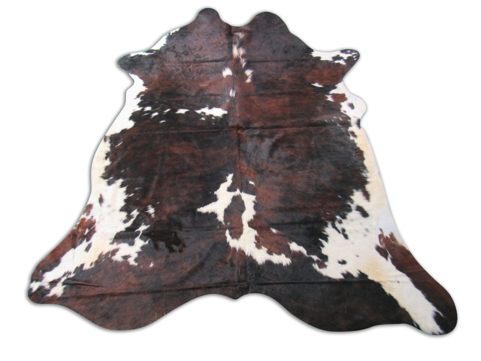 A-1306 Tricolor Speckled Cowhide Rug Size: 7 1/4' X 7'