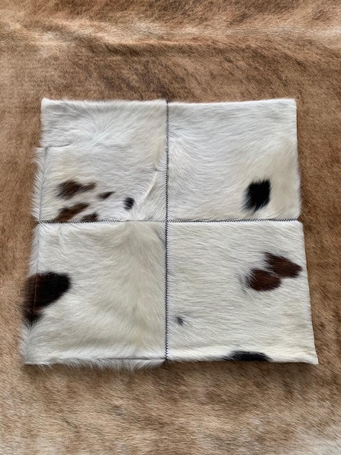 A-1323 Speckled Brown and White Cowhide Pillow Cover - Size: 18 in x 18 in