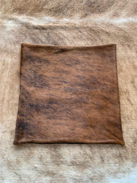 A-1326 Caramel Brindle Cowhide Pillow Cover - Size: 18 in x 18 in