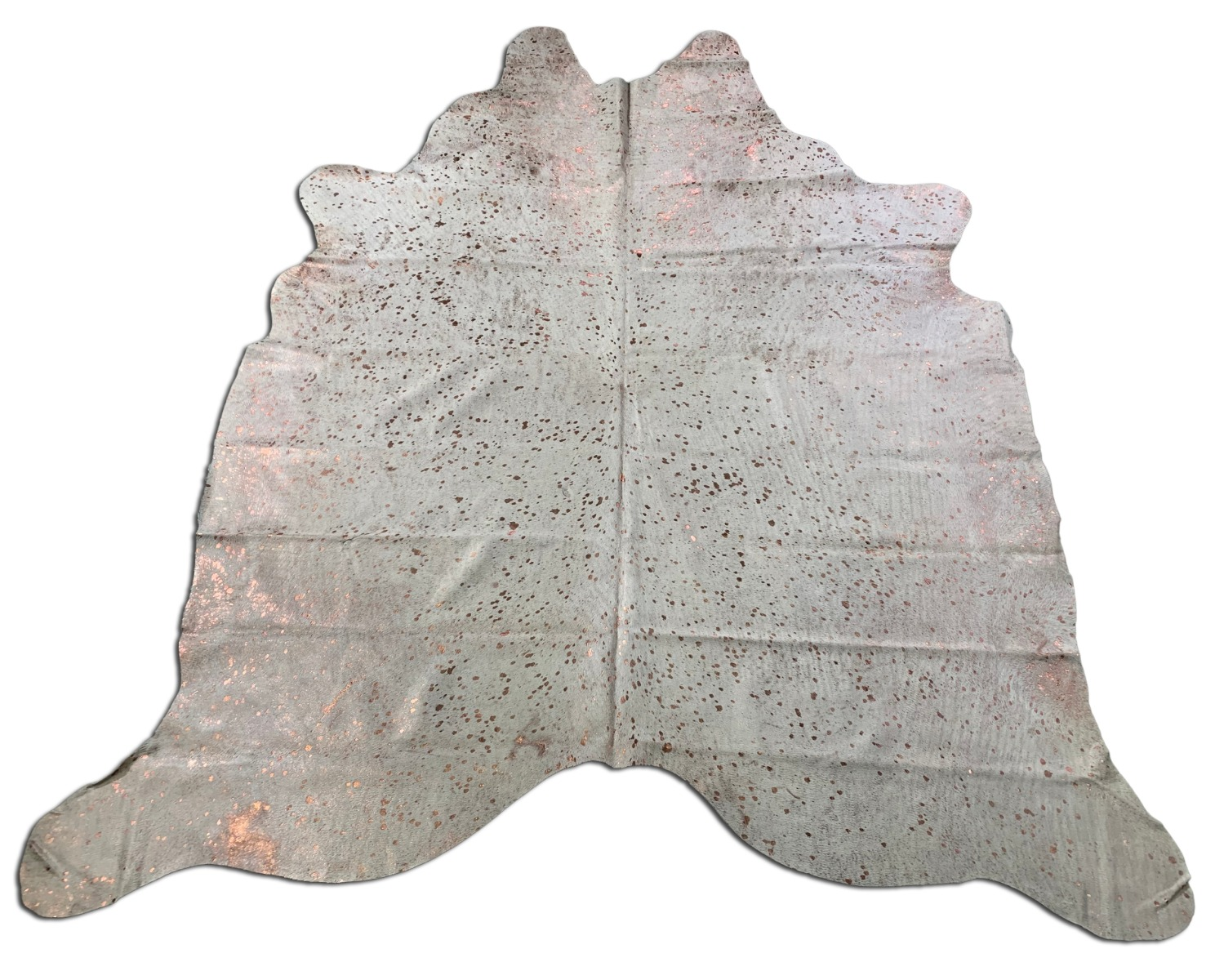 A-1340 Rose Gold Metallic Cowhide Rug Size: 7 1/4' X 7'