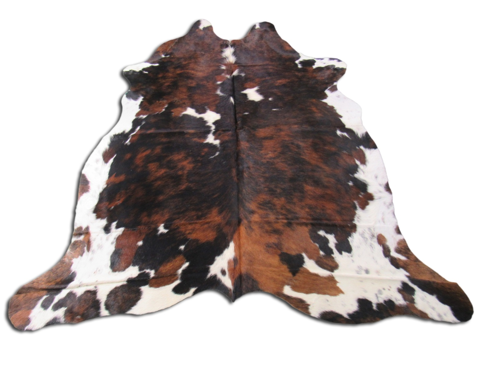 A-1344 Tricolor Speckled Cowhide Rug Size: 7' X 6 1/2'