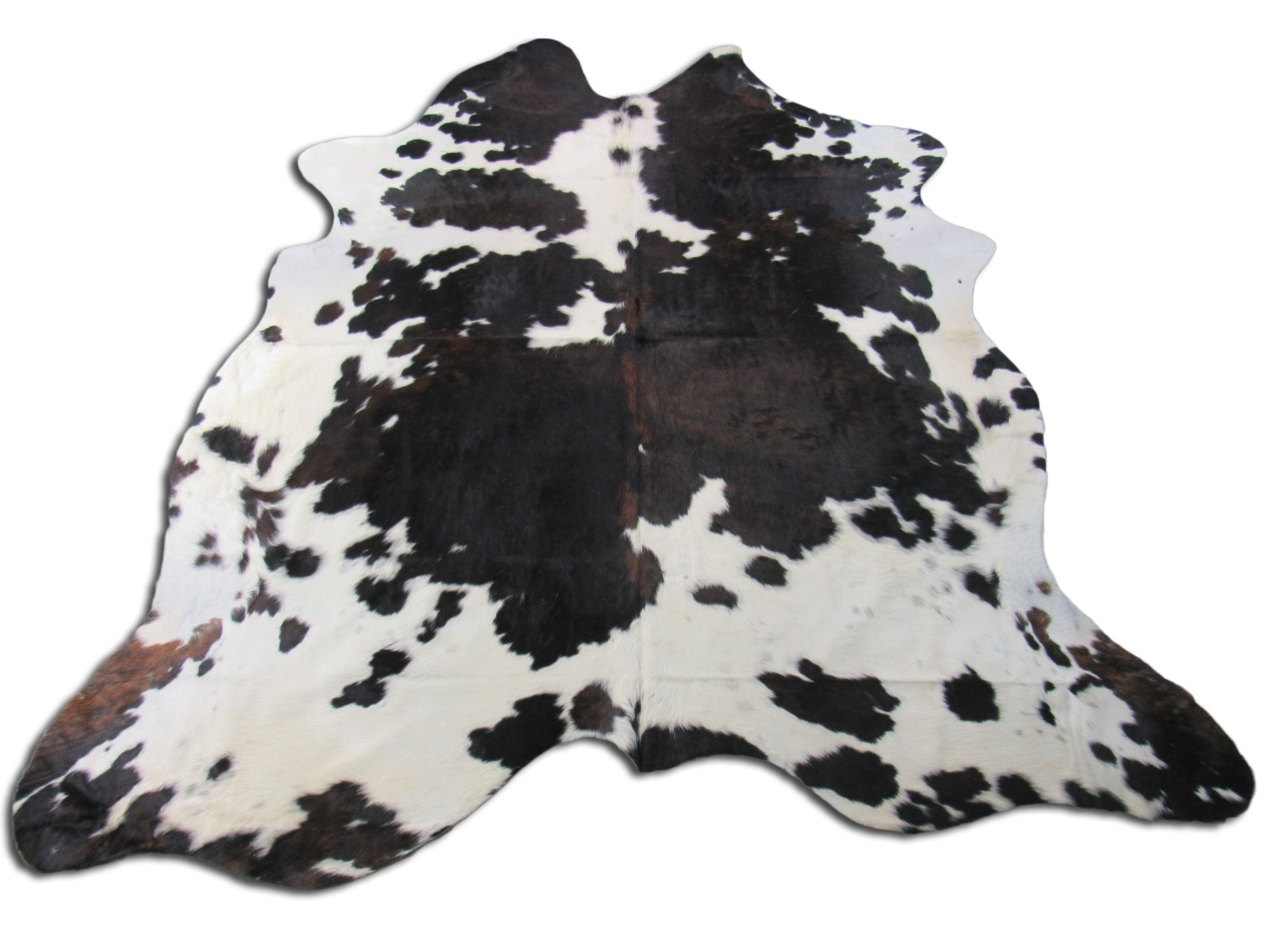 A-1358 Tricolor Speckled Cowhide Rug Size: 7 1/4' X 7 1/2'