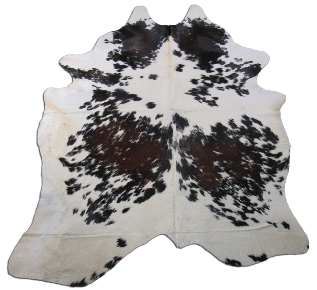 A-1368 Tricolor Speckled Cowhide Rug Size: 8' X 6'