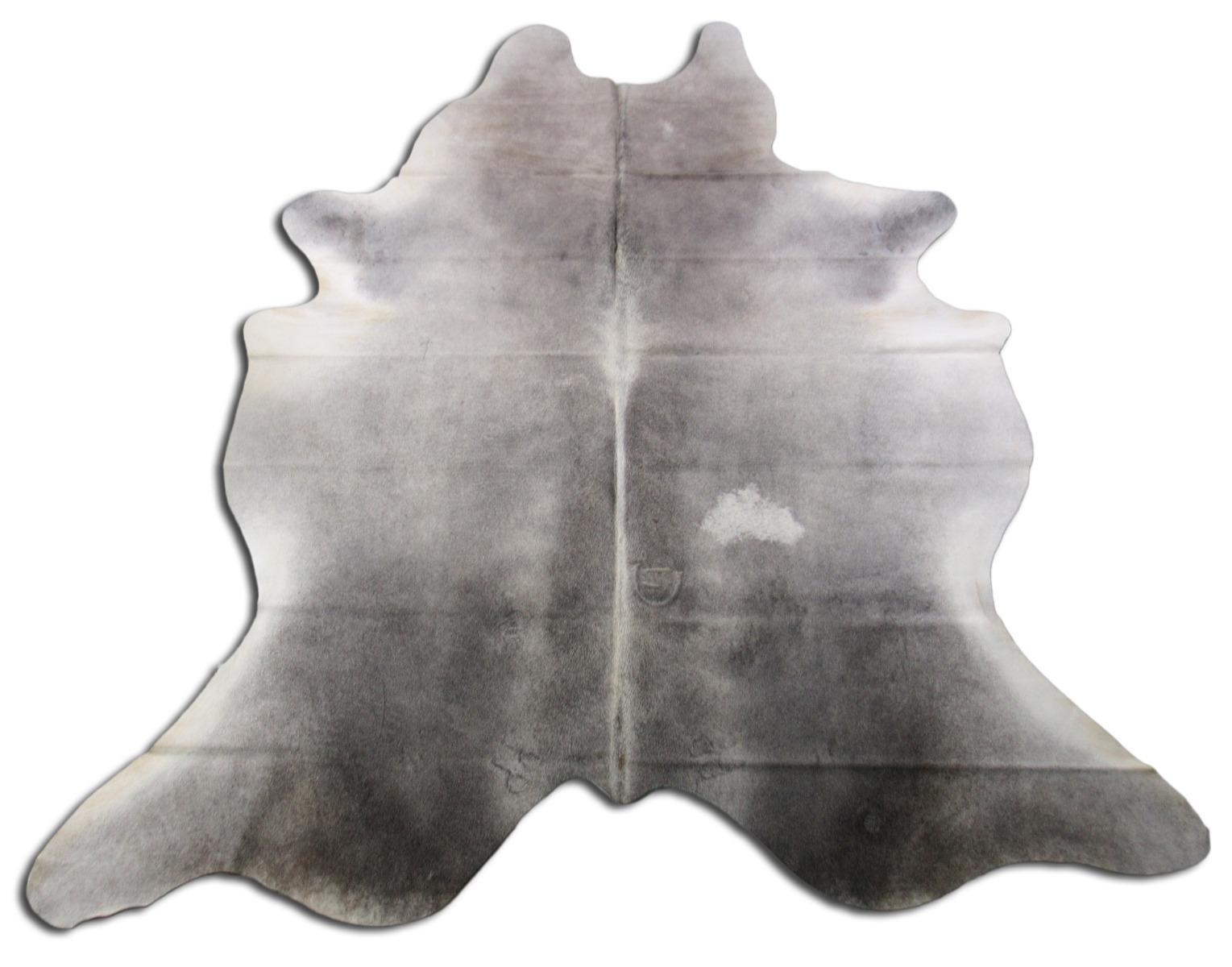 A-1384 Grey Cowhide Rug Size: 8' X 6 3/4'