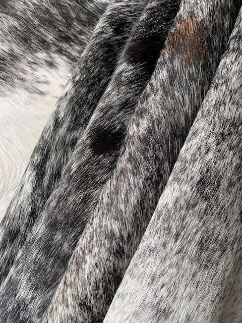 A-1400 Black and White Salt & Pepper Cowhide Rug Size: 8' X 7'