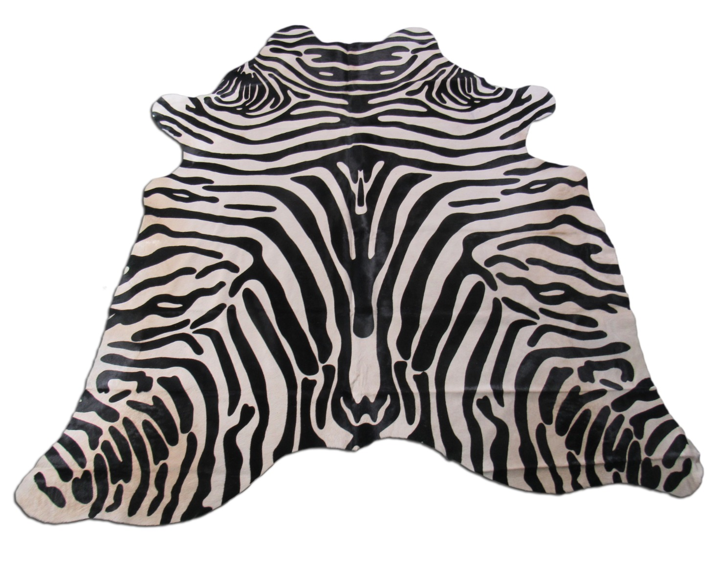 A-1409 Upholstery Zebra Print Cowhide Rug Size: 6 1/4' X 6 1/4'