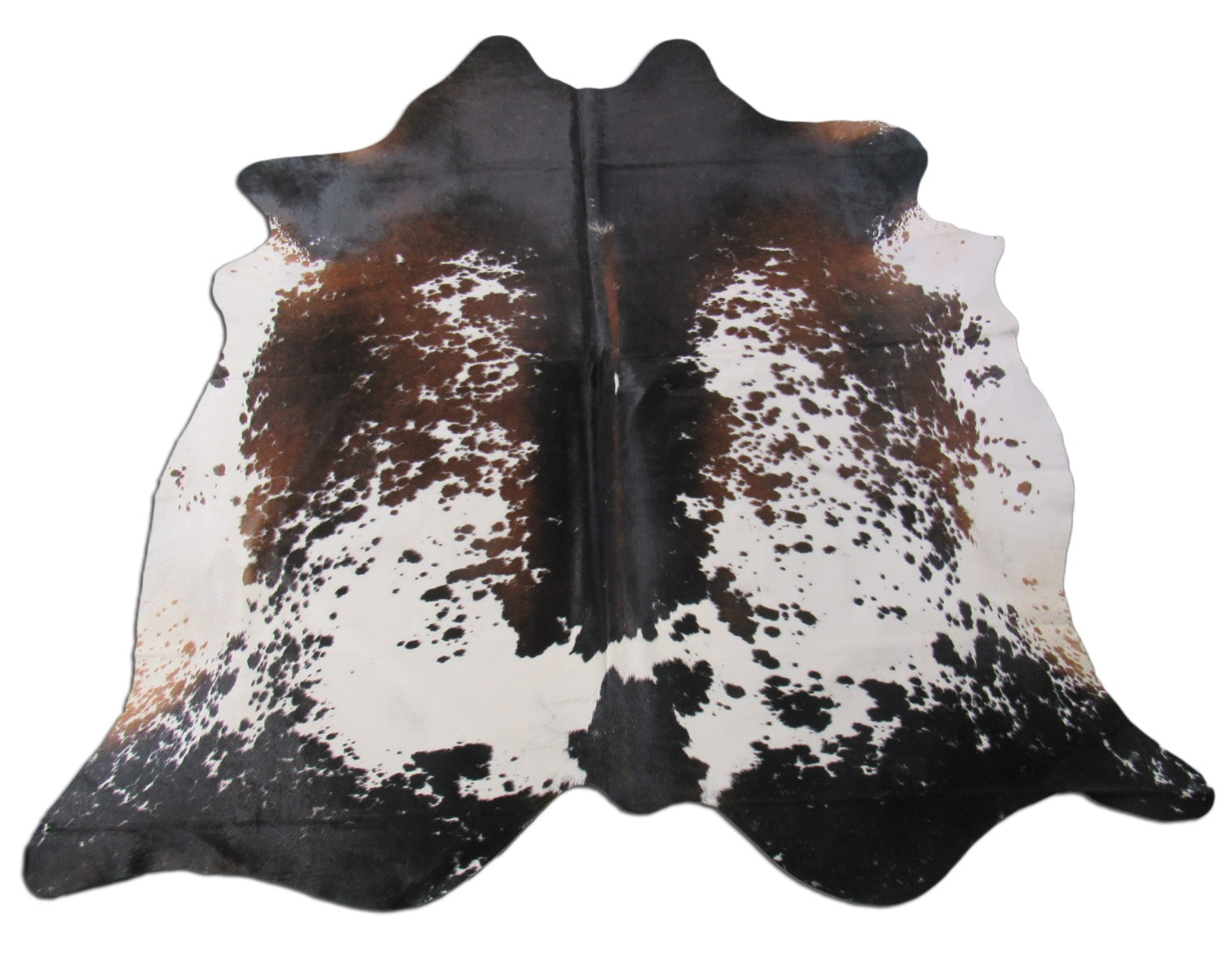 A-1411 Brown and White Speckled Cowhide Rug Size: 7' X 7'