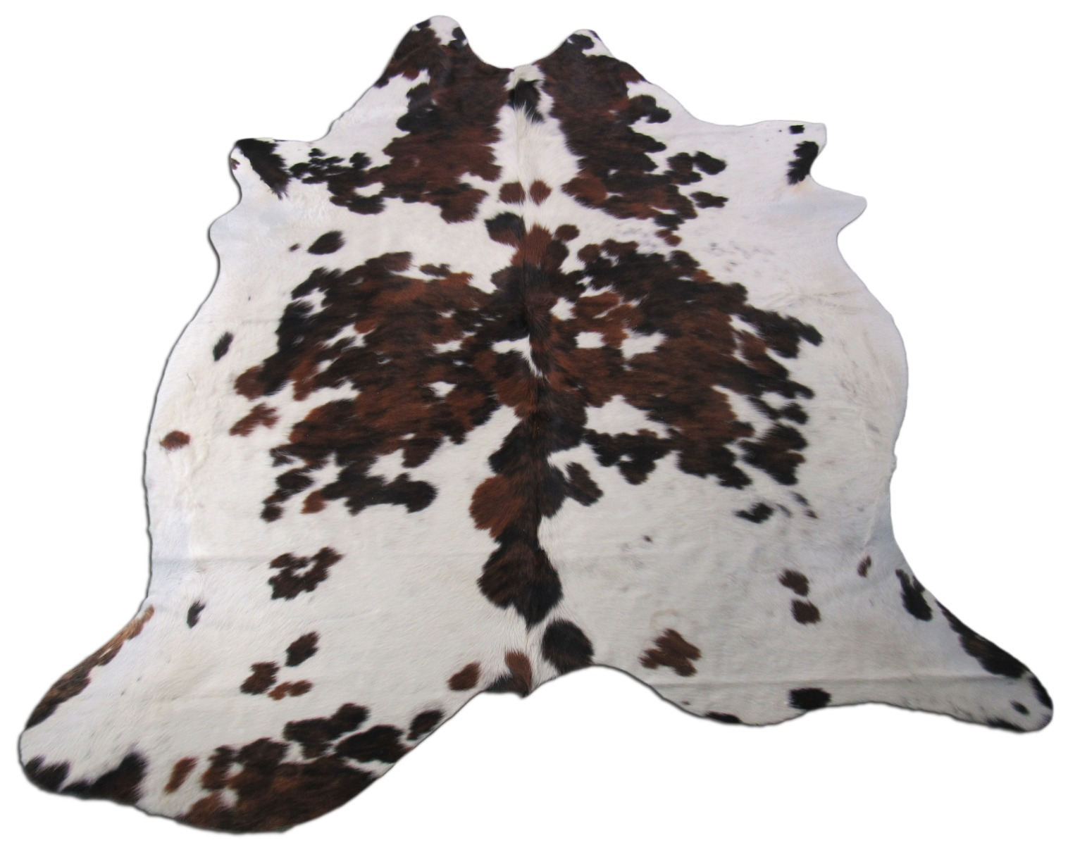 A-1418 Tricolor Speckled Cowhide Rug Size: 7' X 6 1/4'