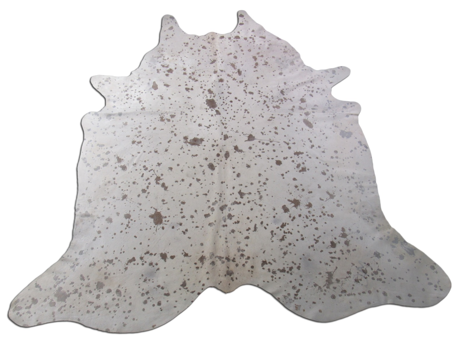 A-1439 Acid Washed Cowhide Rug Size: 8' X 7'