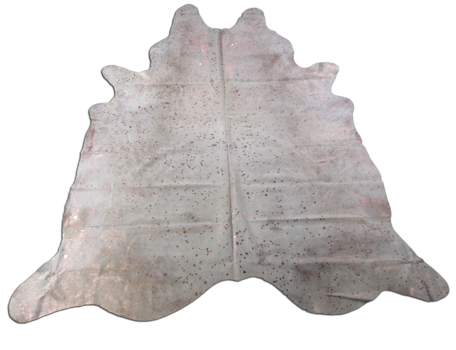 A-1445 Rose Gold Metallic Cowhide Rug Size: 7 1/4' X 7'