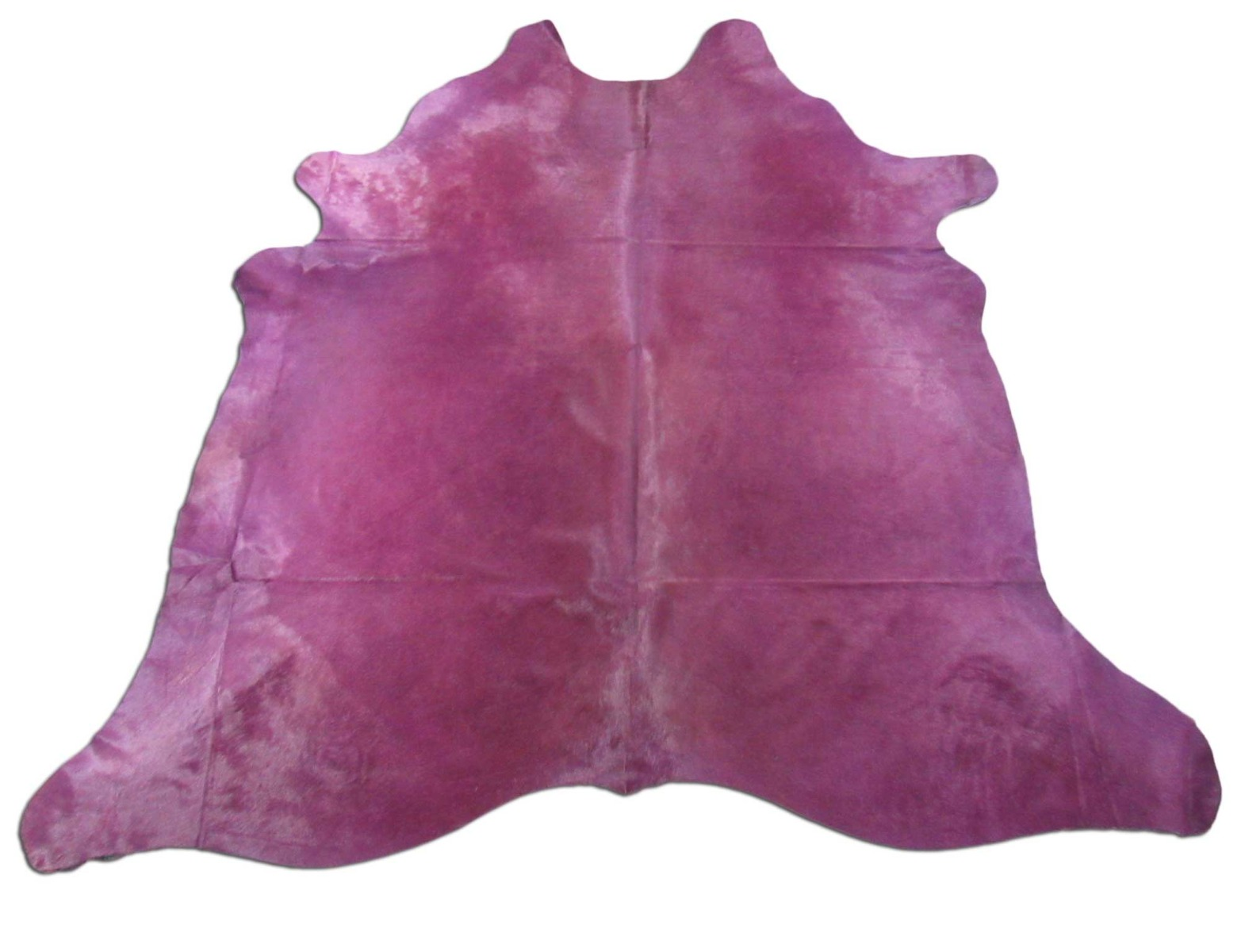 A-1455 Dyed Purple Cowhide Rug Size: 8' X 7 1/2'
