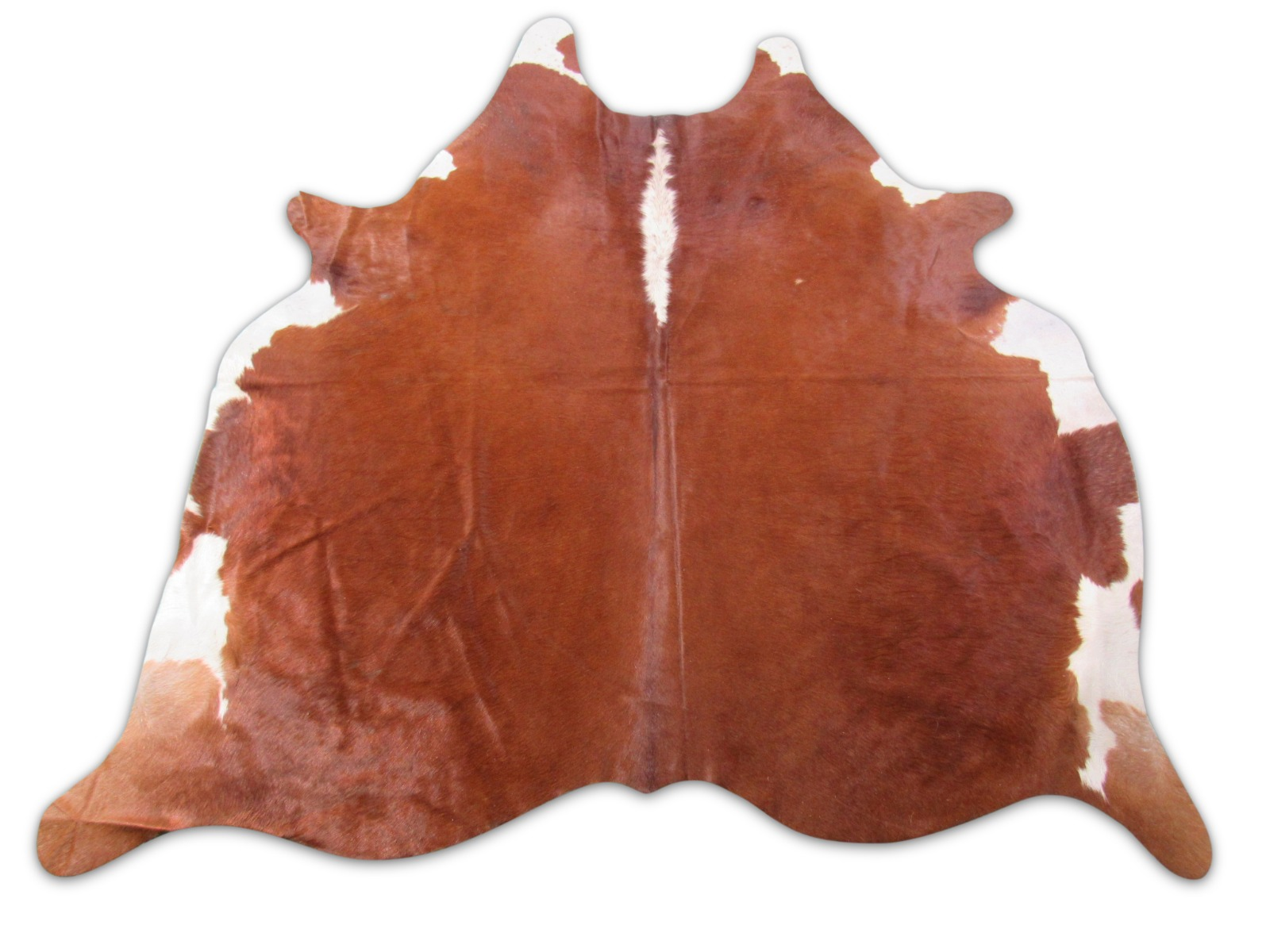 A-1466 Hereford Caramel And White Cowhide Rug Size: 7' X 6 1/4'