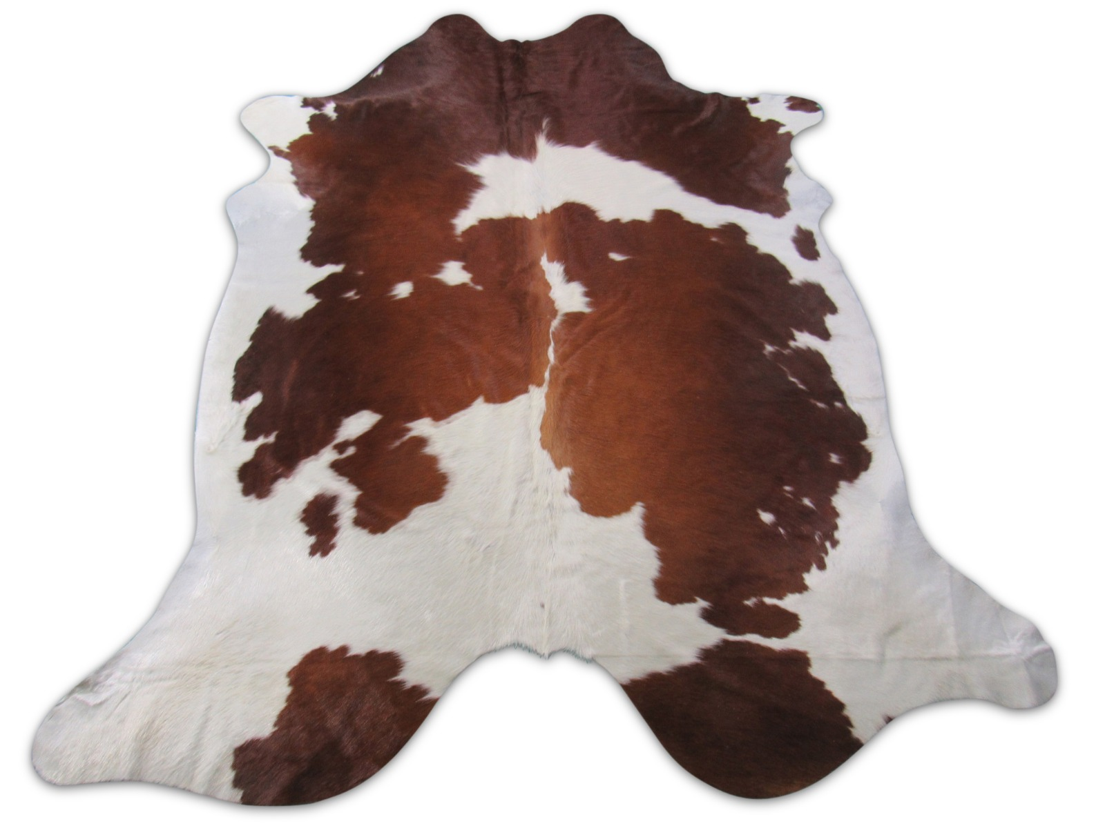 A-1467 Brown and White Spotted Cowhide Rug Size: 8' X 7'