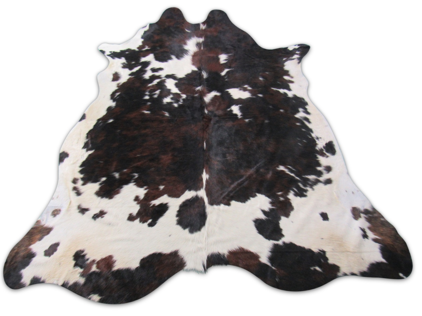 A-1468 Tricolor Speckled Cowhide Rug Size: 7' X 7'
