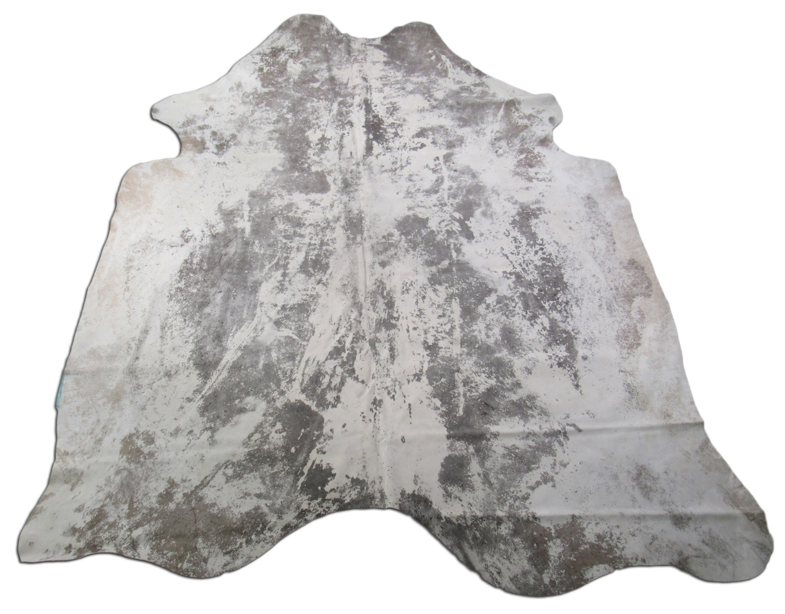 A-1540 Distressed Leather Acid Washed Cowhide Rug Size: 8' X 7'