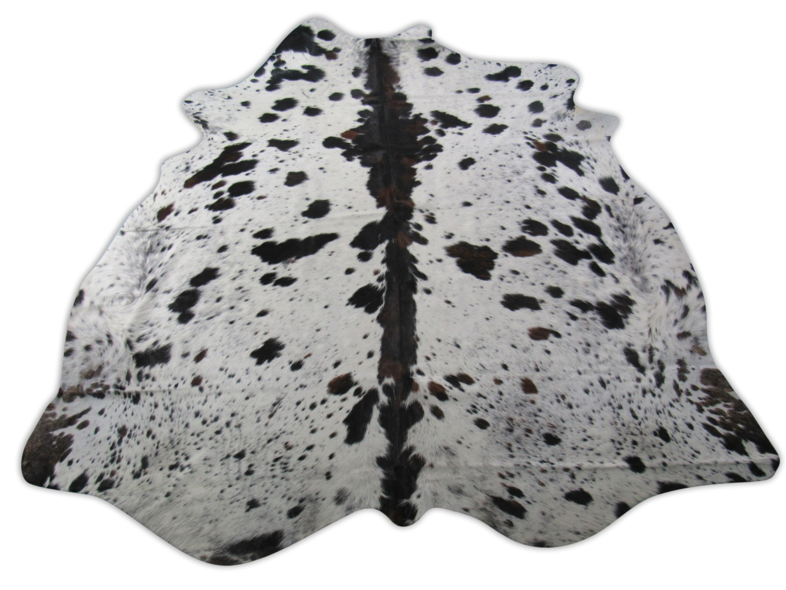 A-1570 Tricolor Speckled Cowhide Rug Size: 7 1/4' X 7 1/4'