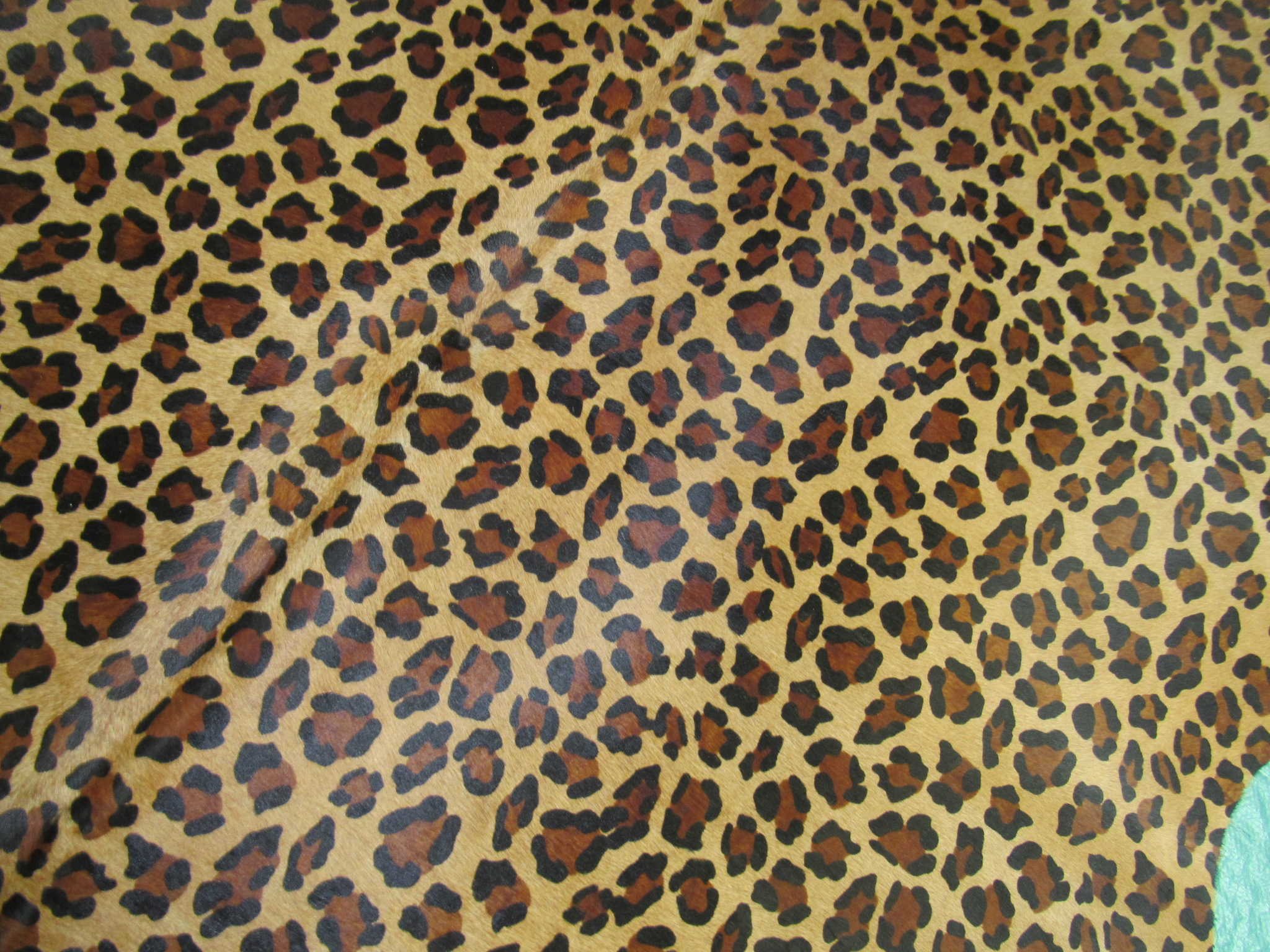 A-625 Leopard Print Cowhide Rug Size: 7' X 6'