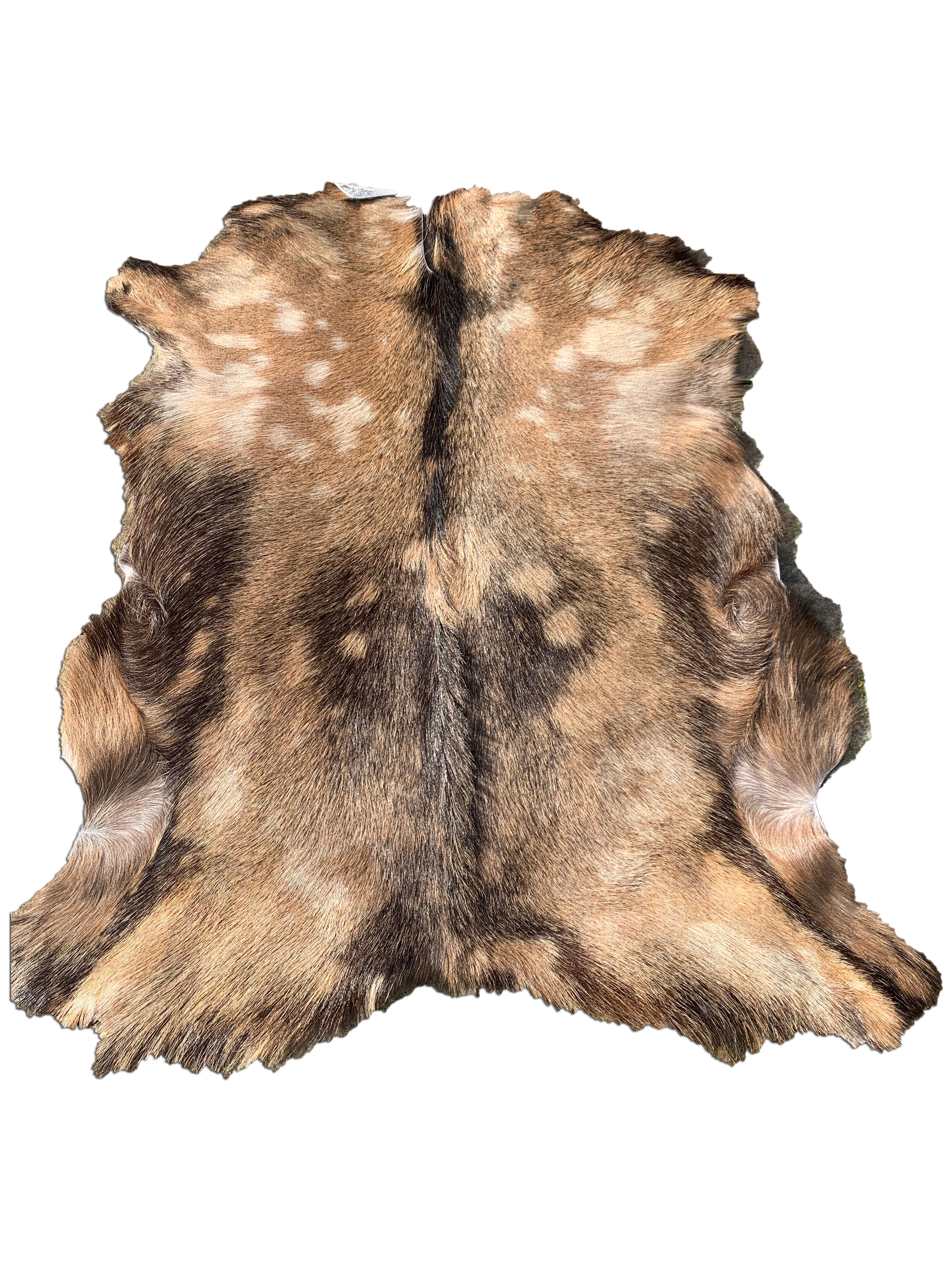 """A-996 Beige Goat Skin with Lighter Spots - Size: 37"""" X 34"""""""