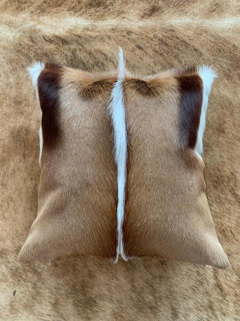 Springbok Skin Pillow - Size: 15 in x 15 in