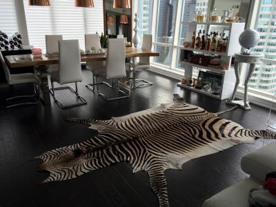 Real Zebra Skin Rugs